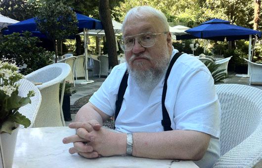 George R. R. Martin, en el hotel Ritz de Madrid. (Foto: Á.P.R)