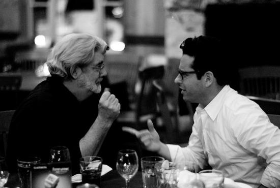 George Lucas y J. J. Abrams, en 2007. / Foto: JOI ITO